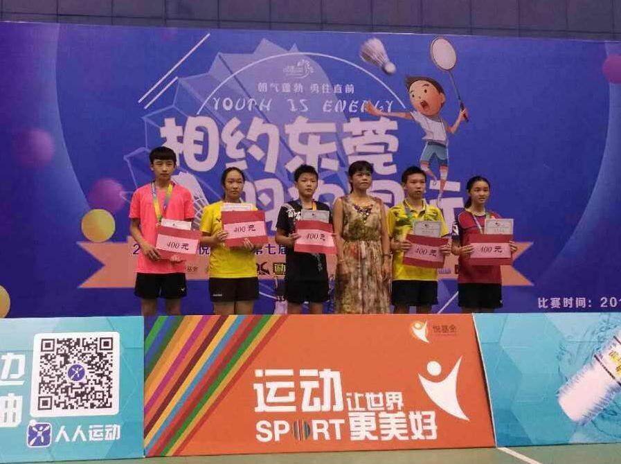 台州市双语学校学生在第七届全球华人国际羽毛球锦标赛中夺冠