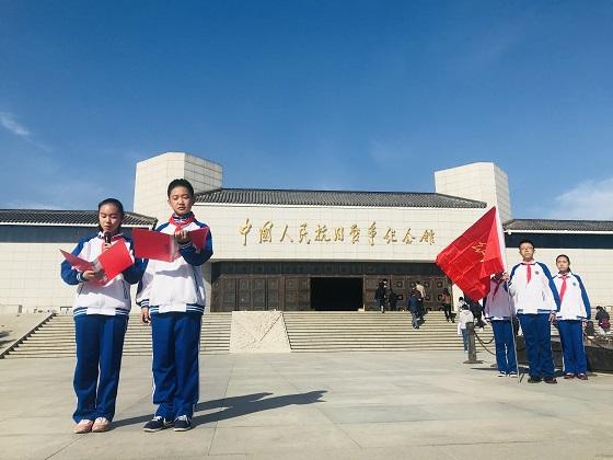 垂杨柳初一师生走进抗日战争纪念馆