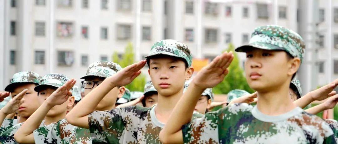 【国防教育】国藩初中:青春里的迷彩时光