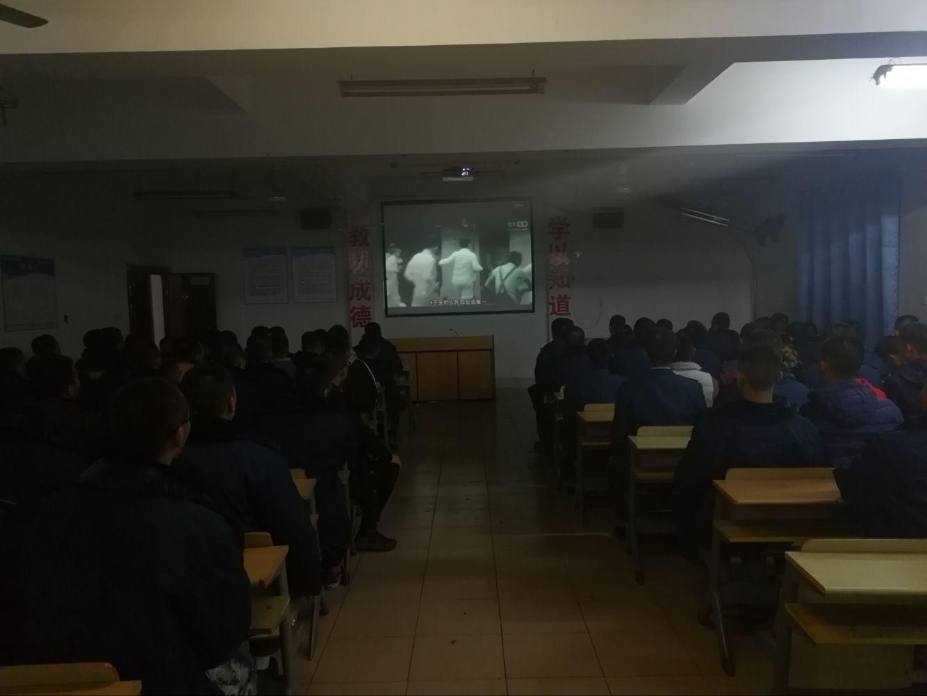 17级士官生观看南京大屠杀纪录片