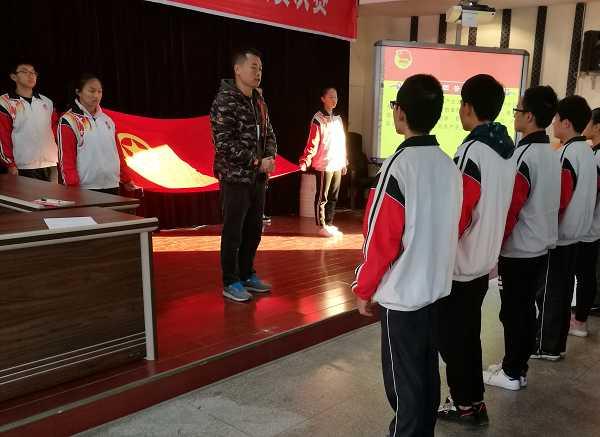 """市外校华山分校举办""""青春的梦想 庄严的承诺""""新团员入团宣誓仪式3.jpg"""