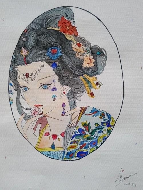 绘画2三水实验中学高一9班何晓卿《婳》.jpg