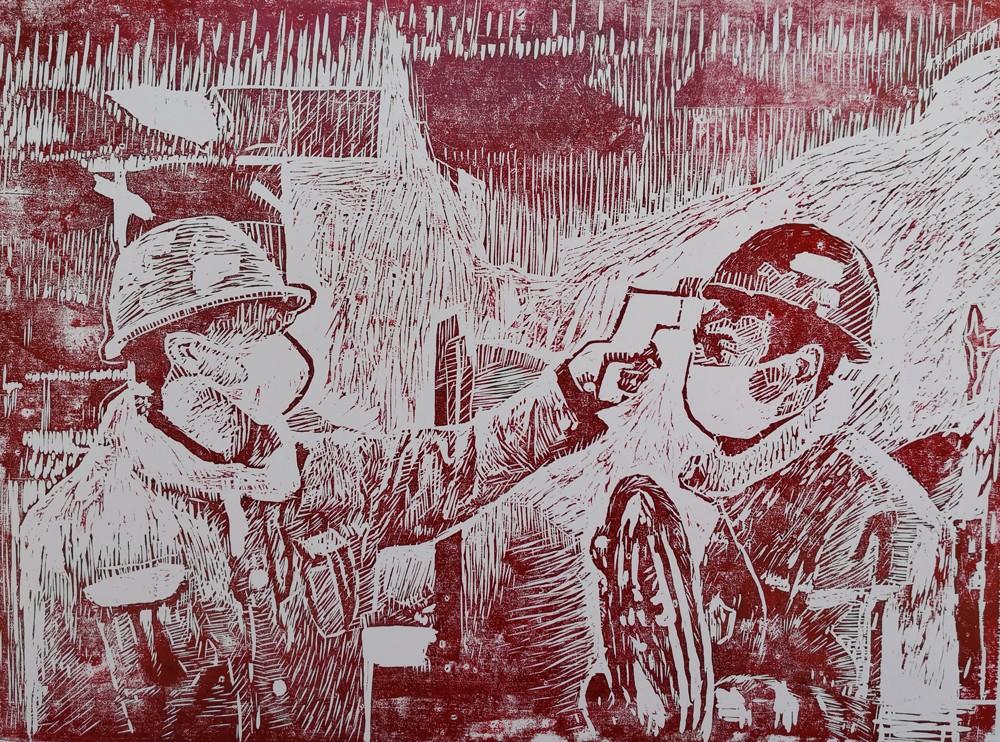 高一(8)余靜怡 木刻画《测温上班》.jpg