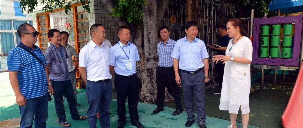 省体育局领导莅临幼儿园 开展游乐设施专项整治工作