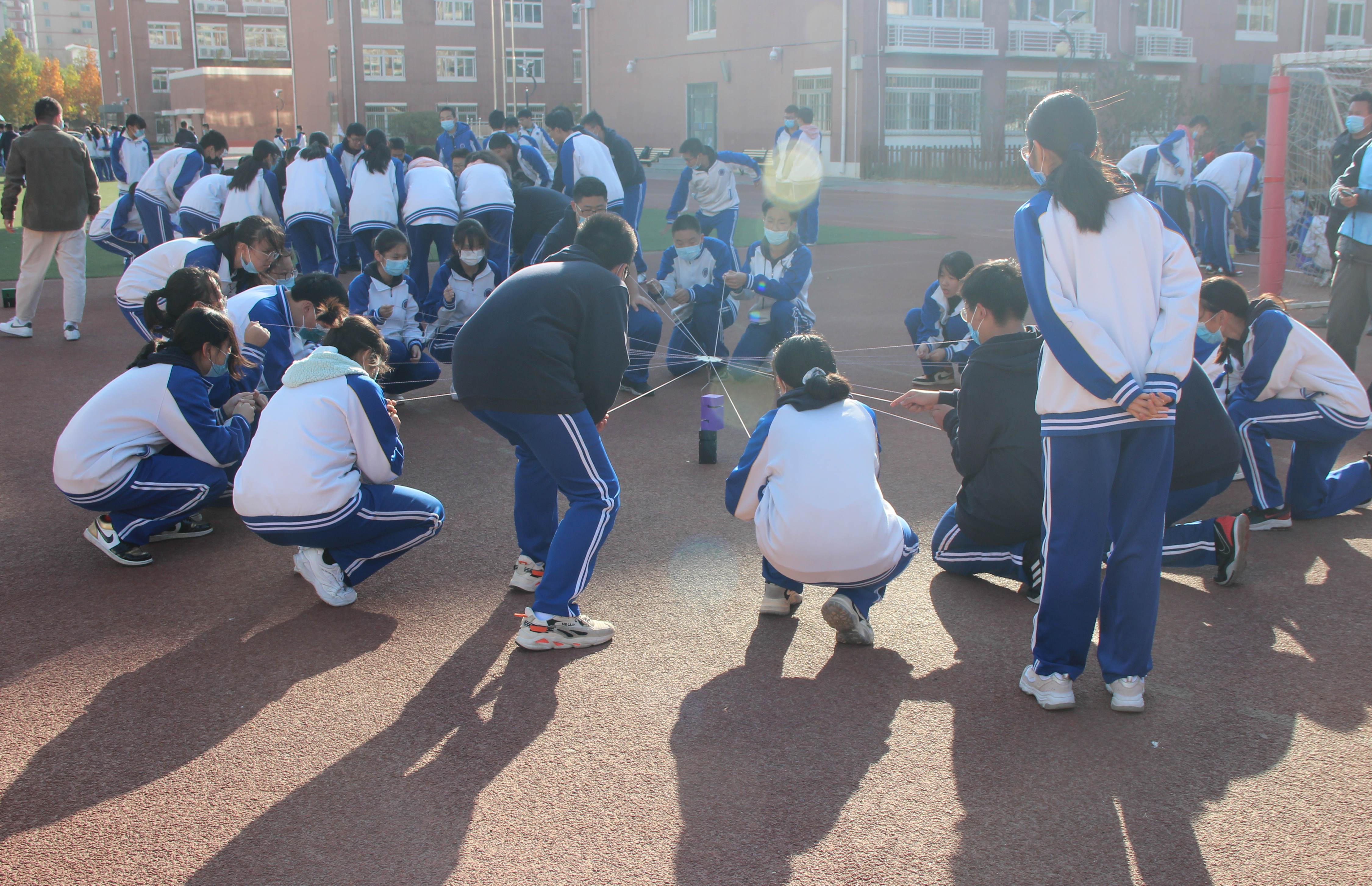 凝心聚力,携手奋进——工大附中初三年级心理拓展活动